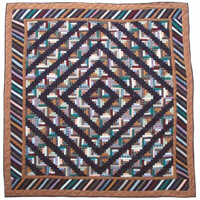 Dusty Diamond Log Cabin Quilt Size: Full / Queen