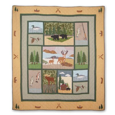 Lodge Fever Quilt Size: King