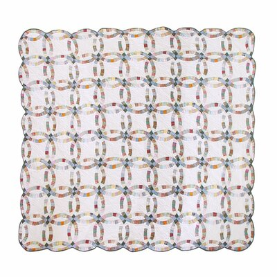 Country Wedding Ring Luxury Quilt