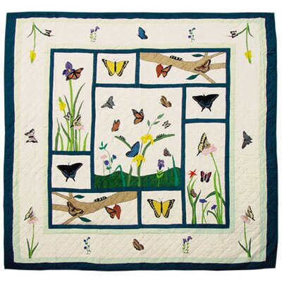 Butterfly Kisses Quilt Size: Twin