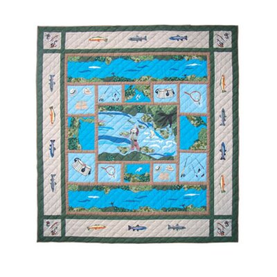 Fly Fishing Quilt Size: Full / Queen