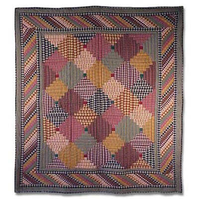 Harvest Log Cabin Quilt Size: Full / Queen