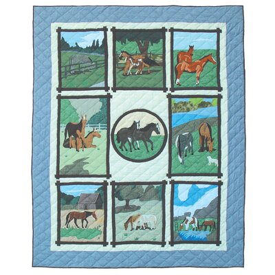 Horse Friends Quilt Size: Twin