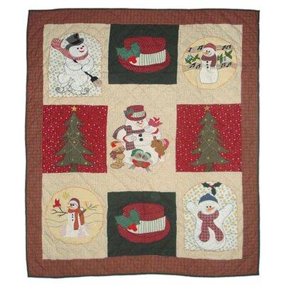 Jolly Snowmen Cotton Throw