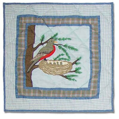 Songbirds Cotton Throw Pillow