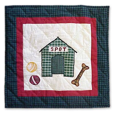 Fido Spot Cotton Throw Pillow