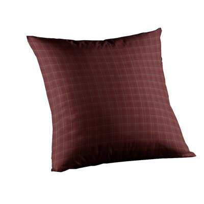 Dark Maroon Check Cotton Throw Pillow