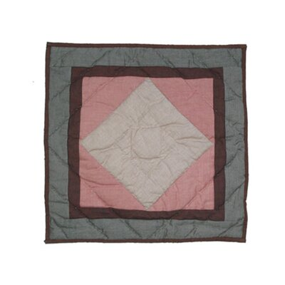 Wolf Trail Patchwork Cotton Throw Pillow