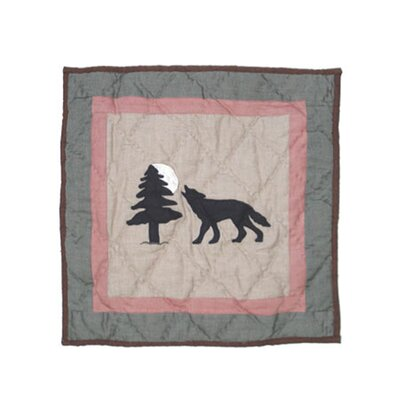 Wolf Trail Cotton Throw Pillow