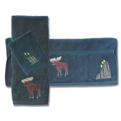 Moose 3 Piece Towel Set
