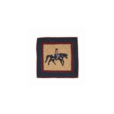 Shadow Rider Cotton Throw Pillow