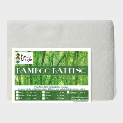 100% Rayon from Bamboo Quilt Batting Size: Throw