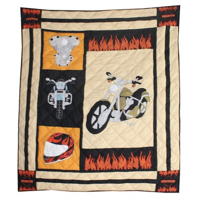 Motor Cycle Cotton Throw