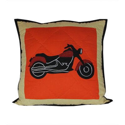 Bike Cotton Throw Pillow