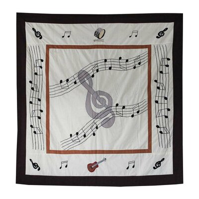 Music Cotton Shower Curtain