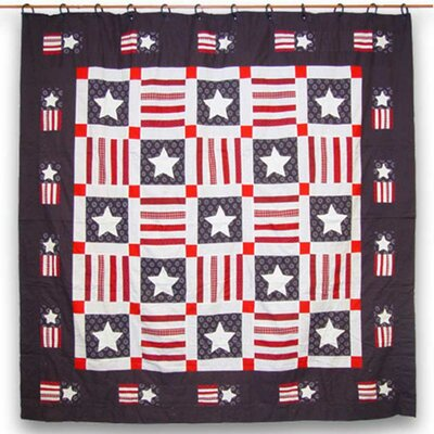 Patriot Cotton Shower Curtain