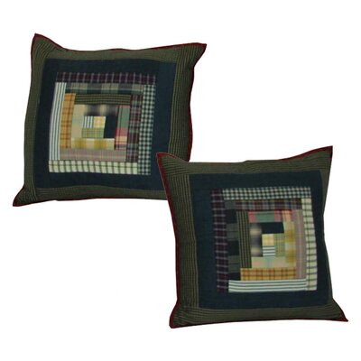 Wild Goose Log Cabin Cotton Throw Pillow