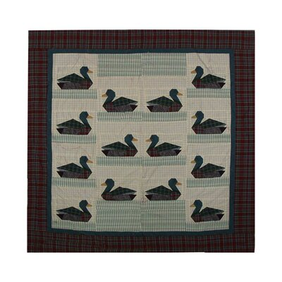 Ducks Cotton Shower Curtain