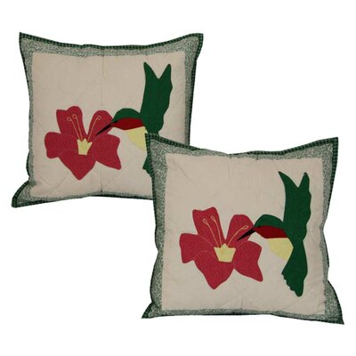 Hummingbird Cotton Throw Pillow