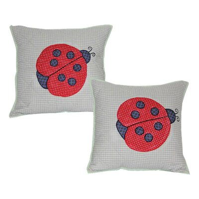 Ladybug Cotton Throw Pillow