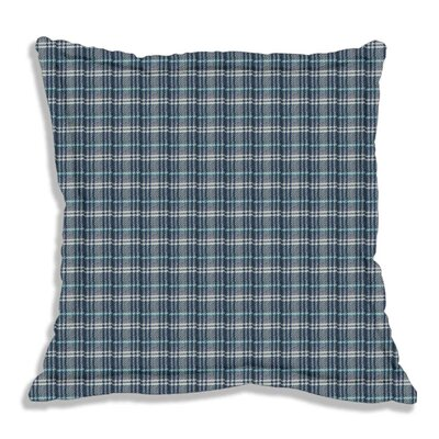 Plaid Euro Sham Color: Blue and White Plaid