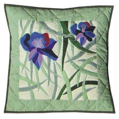 Iris Cotton Throw Pillow