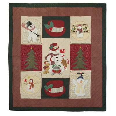 Jolly Snowmen Twin Quilt