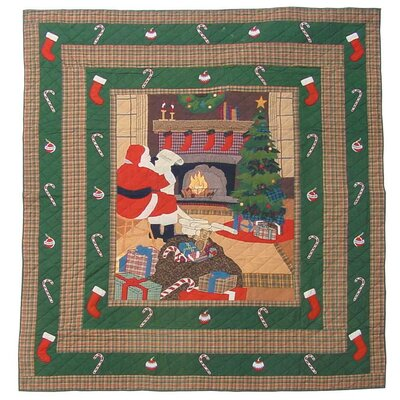 Santa By the Fireside Quilt Size: Twin