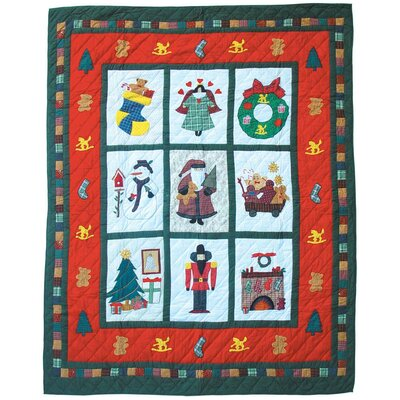Holiday Cheer Cotton King Quilt
