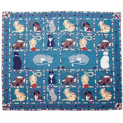 Kitty Cat King Cotton Quilt