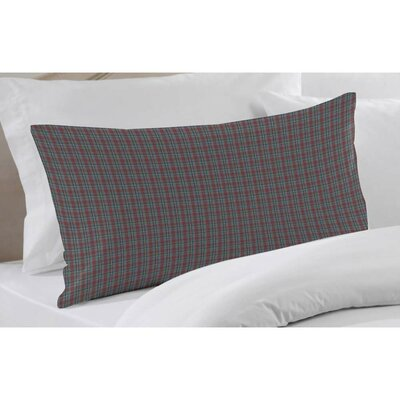 Plaid Pillow Sham Color: Burgundy