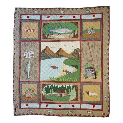 Gone Fishing Queen Quilt