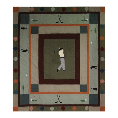Golfers Trail Cotton Queen Quilt
