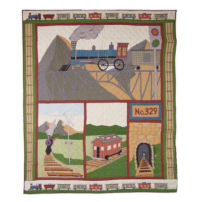 Train Twin Quilt