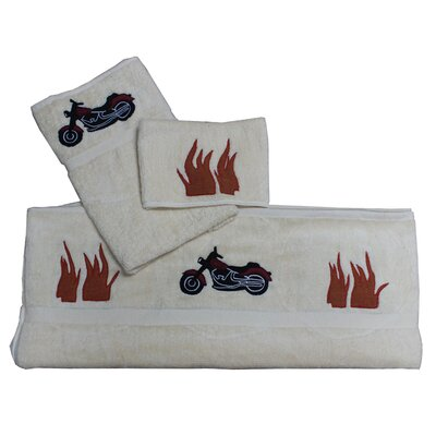 Motor Cycle 3 Piece Towel Set