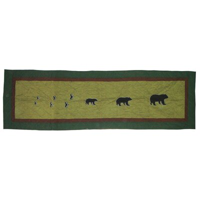 Bear Trail Cotton Bed Scarf Size: King