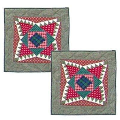 Yuletide Stars Cotton Throw Pillow