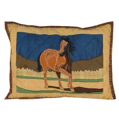 Wild Horses Cotton Boudoir/Breakfast Pillow