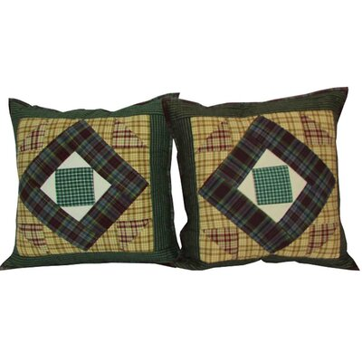 Square Diamond Cotton Throw Pillow
