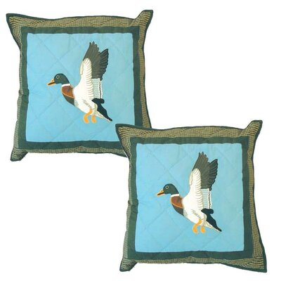 Mallard Cotton Throw Pillow