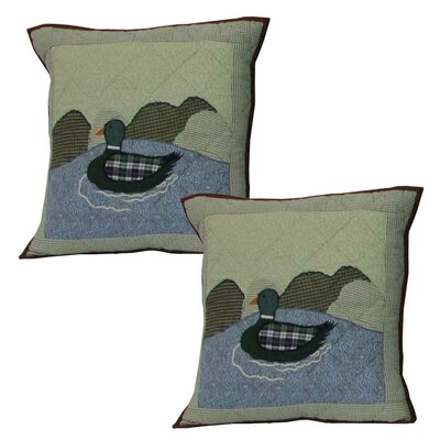 Moose Mallard Cotton Throw Pillow