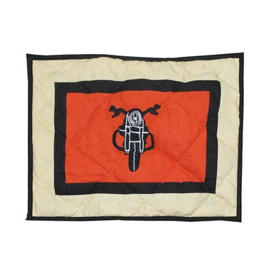 Motor Cycle Crib Cotton Throw Pillow