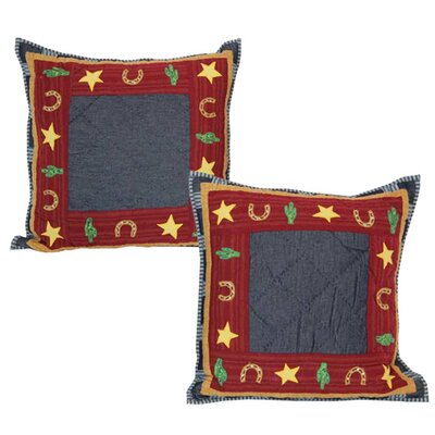 Lil Buckaroo Cotton Throw Pillow