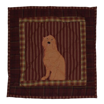 Golden Friends Cotton Throw Pillow