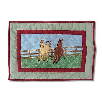 Horse Cotton Boudoir/Breakfast Pillow