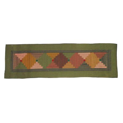 Harvest Log Cabin Bed Scarf Size: Queen