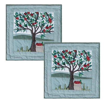 Apple Cart Cotton Throw Pillow
