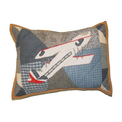 Airplane Crib Cotton Boudoir/Breakfast Pillow