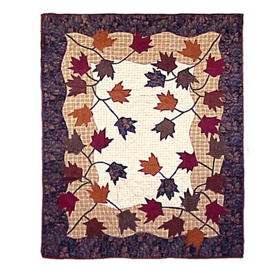 Autumn Leaves Cotton Throw