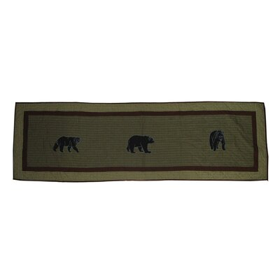 Bear Country Bed Scarf Size: Queen